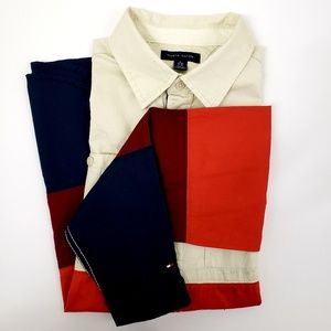Tommy Hilfiger colour block shirt (youth size XL)